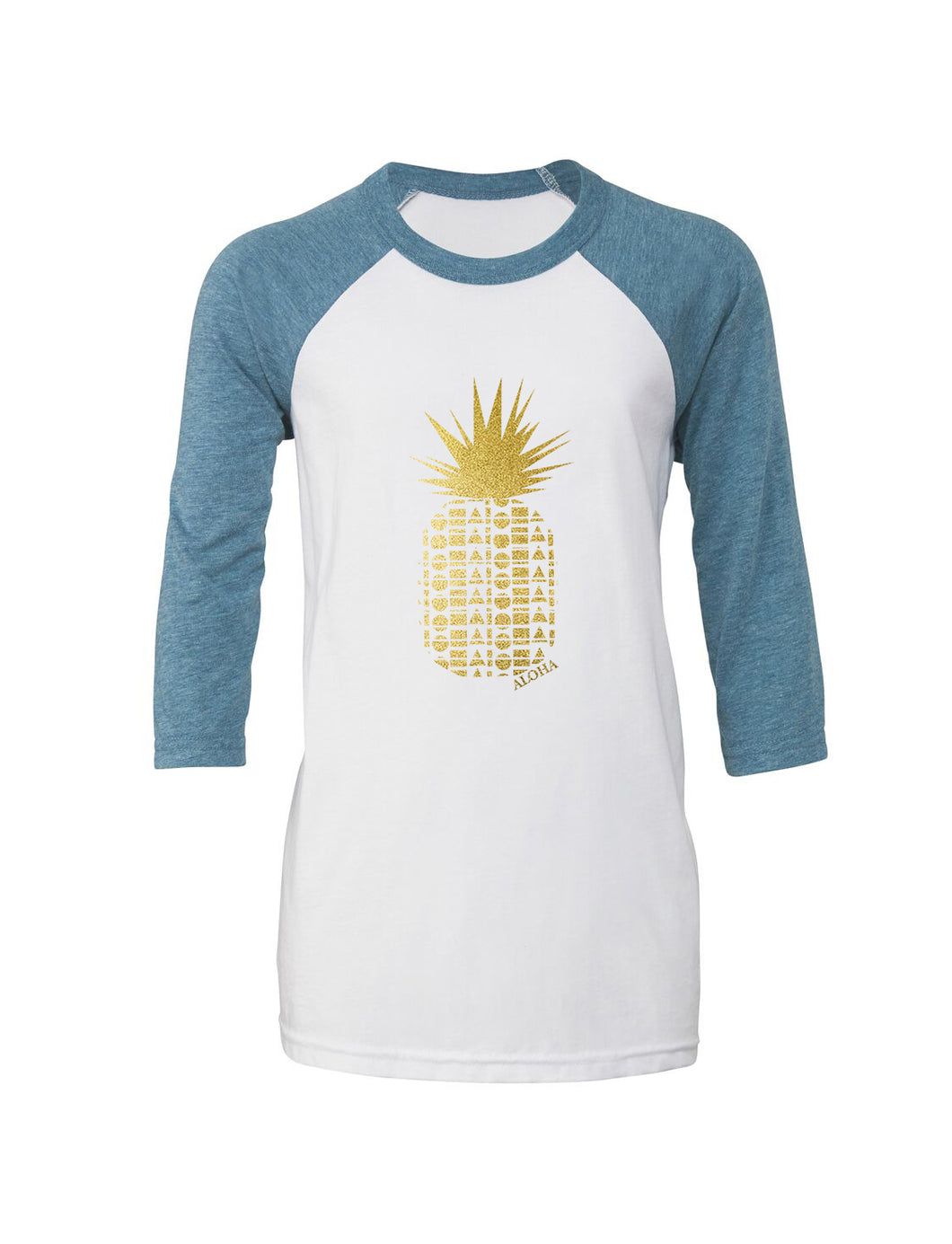 Repeat Pineapple Women's 3/4 Sleeve Baseball Tee