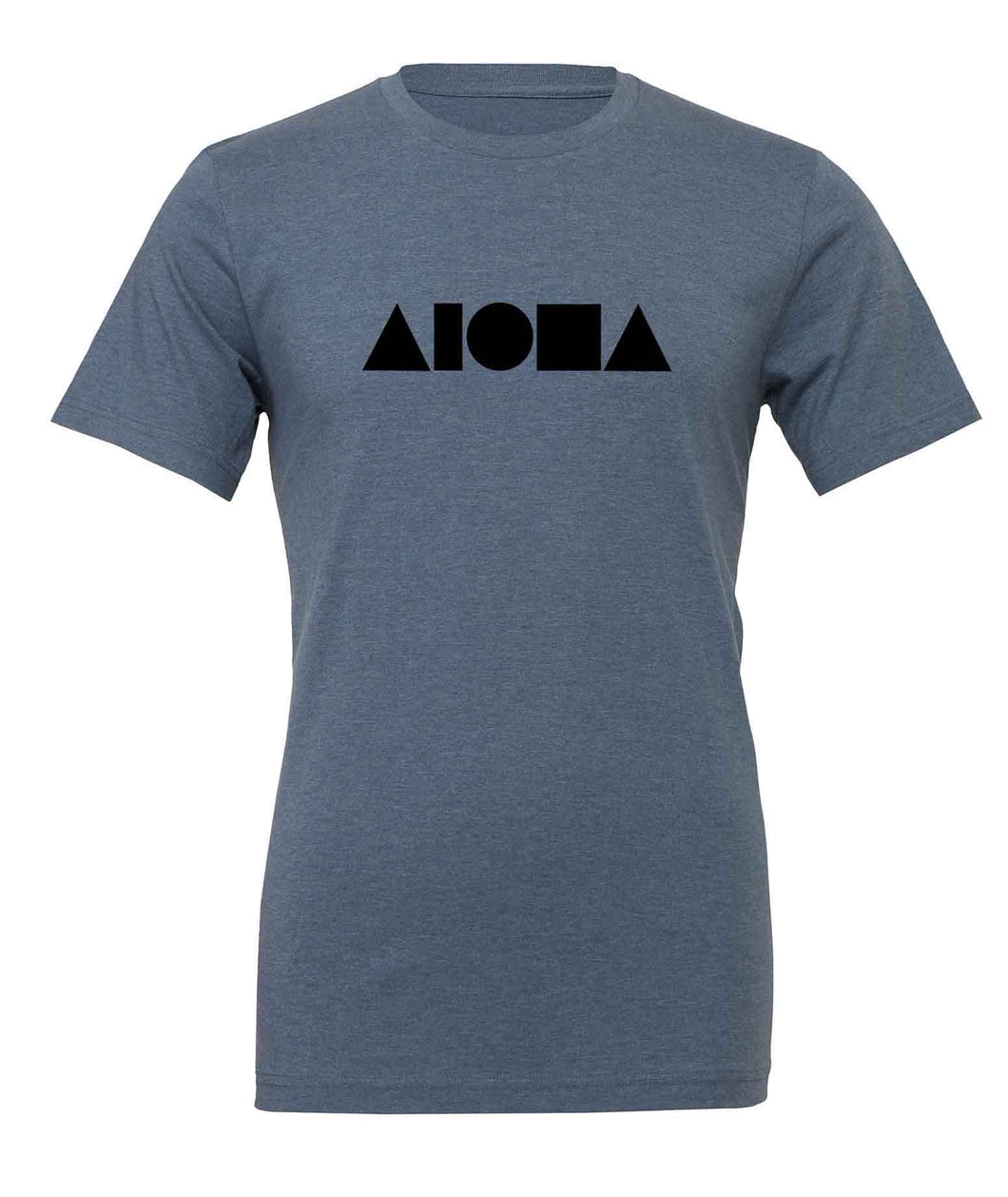 Aloha Shapes Steel Blue & Black Unisex T-shirt