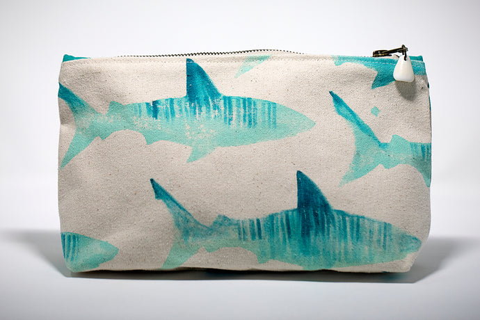 Annie Fischer Designs Tiger Shark Handpainted Clutch Purse