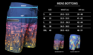 Size chart for mens boardshorts