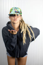 """Aloha Shirt"" Snapback on blond dreadlocked girl"