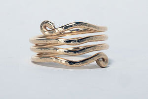 Wave ring 14 karat gold fill