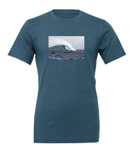 Unisex short sleeve t-shirt with photo of Jaws on front chest. Maui, Hawaii's famed big wave surf spot. Limited edition series of 50 by Stu Soley.