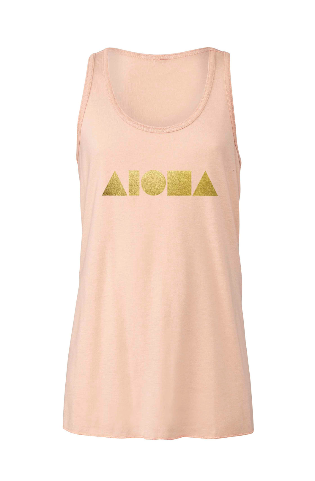 Aloha Shapes Youth Flowy Racerback Tank