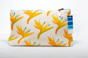 "Annie Fischer Designs ""Bird of Paradise"" Handpainted Medium Clutch Purse"