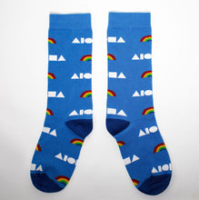 Rainbow Aloha Shapes Cotton Dress Socks