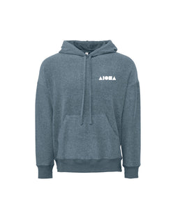 Aloha Shapes Sueded Fleece Pullover Hoodie