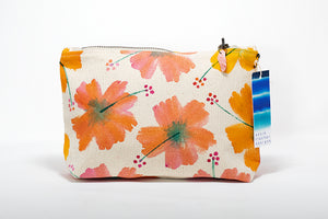 "Annie Fischer Designs ""Hibiscus Flower"" Handpainted Small Clutch Purse"