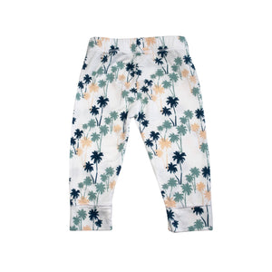 Palm tree baby leggings designed in Maui, Hawaii