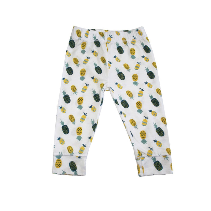 Pineapple print baby leggings designed in Maui, Hawaii
