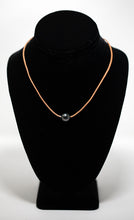Tan leather necklace with Tahitian pearl bead handmade in Maui, Hawaii