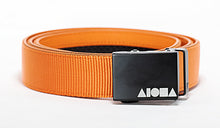 Orange nylon Aloha Shapes® Mission Belt with black gunmetal buckle