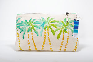 "Annie Fischer Designs ""Coco Palms"" Handpainted Medium Clutch Purse"