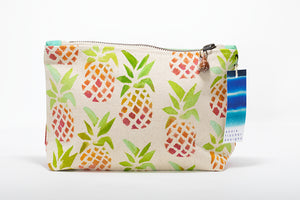 "Annie Fischer Designs ""Pineapple"" Handpainted Small Clutch Purse"