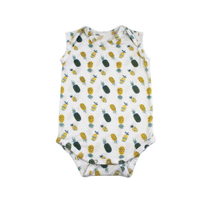 Pineapple print sleeveless babies onesie designed in Maui, Hawaii