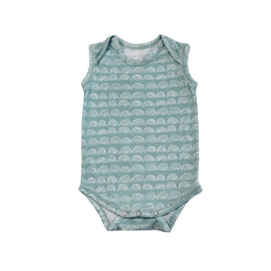 Rainbow print babies sleeveless onesie designed in Maui, hawaii