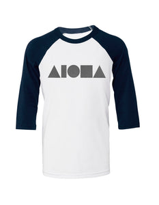 Aloha Shapes Youth Baseball T-Shirt