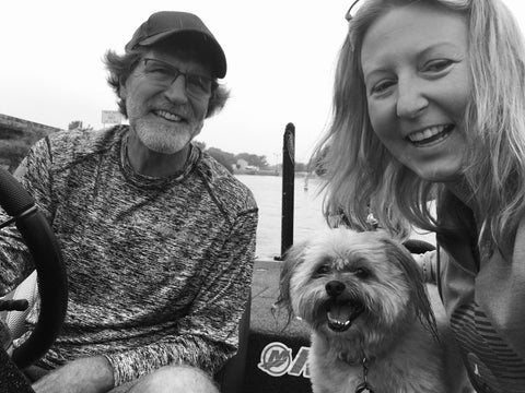 family photo on the boat