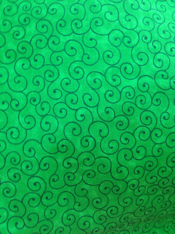 Green Swirl Fabric