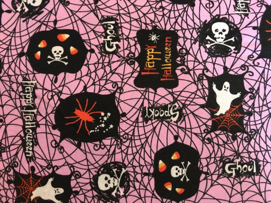 Purple Halloween Ghosts Fabric