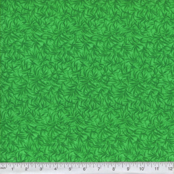 Green Bamboo Print Fabric