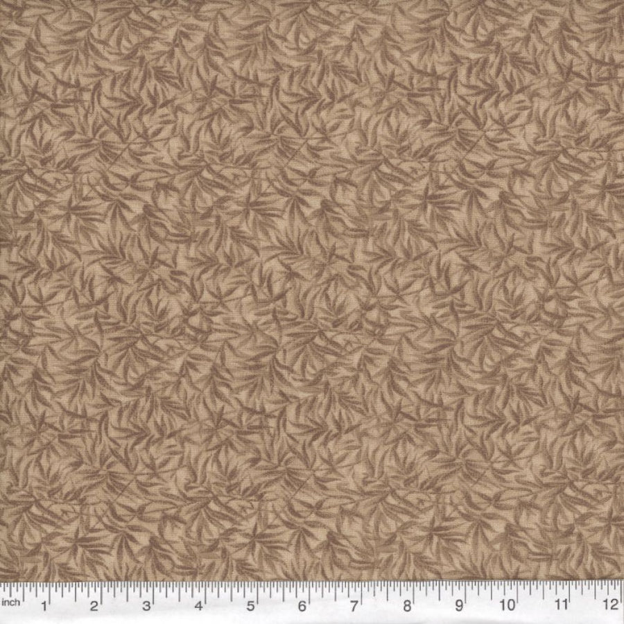 Brown Bamboo Print Fabric