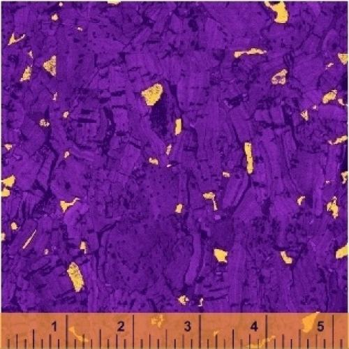 Plum Purple Cork Look Fabric