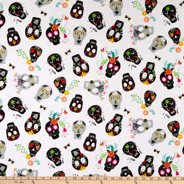 Sugar Skulls Fabric by Windham Fabrics