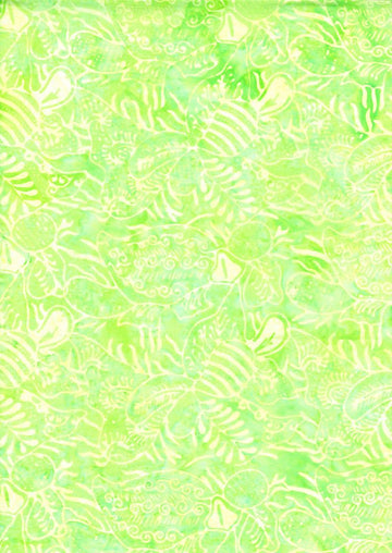 Dew Green Batik Fabric