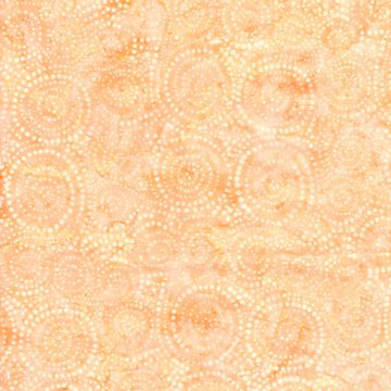 Melon Peach Batik Fabric