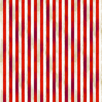 Red and White Stripe Fabric; American Flag Fabric