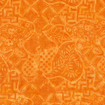 Pumpkin Batik Fabric