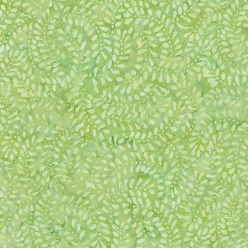 Leaf Green Batik Fabric
