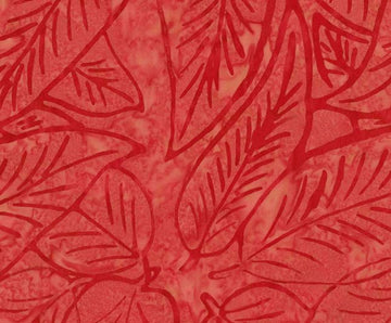 Apple Red Batik Fabric