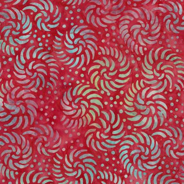 Cranberry Red Batik Fabric