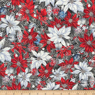 Christmas Poinsettia Fabric