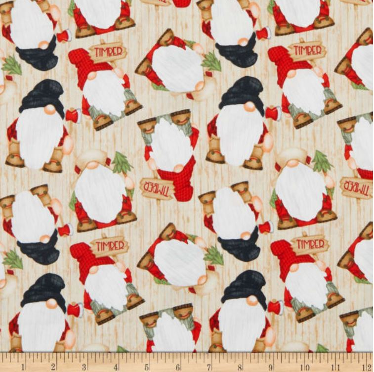 Timber Gnomes Fabric by Henry Glass