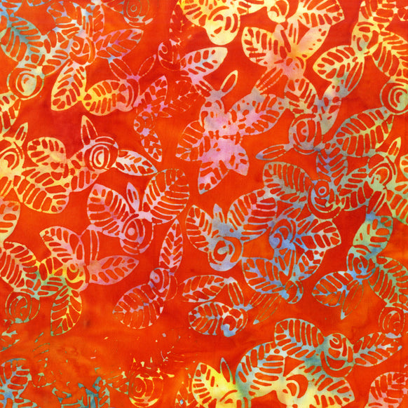 Mandarin Orange Batik Fabric