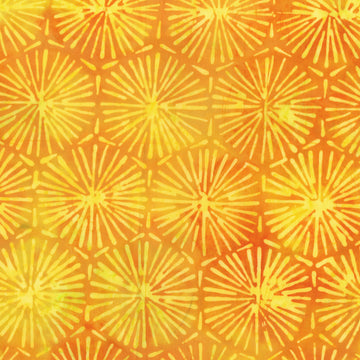 Sunrise Yellow Batik Fabric