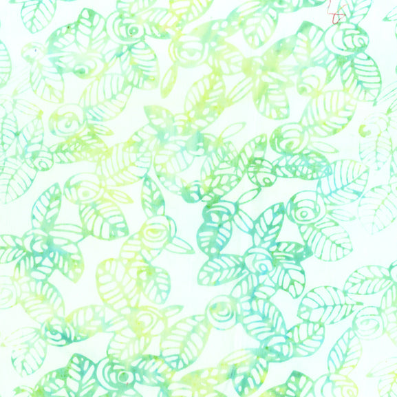 Lilypad Green Batik Fabric