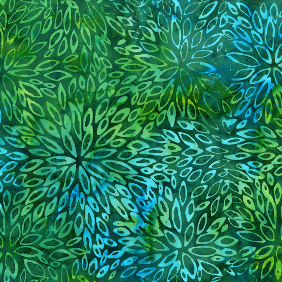 Emerald Green Batik Fabric