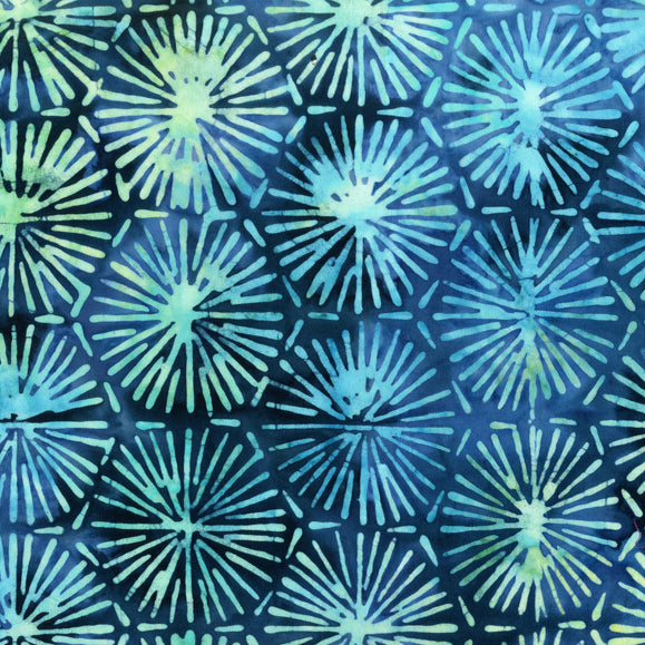 Azure Blue Batik Fabric