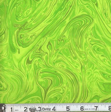 Lime Green Swirl Fabric