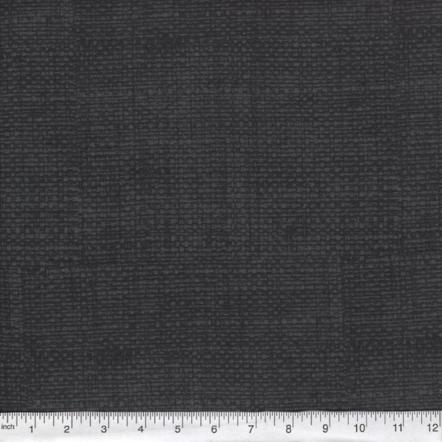 Dark Gray Burlap Look Fabric