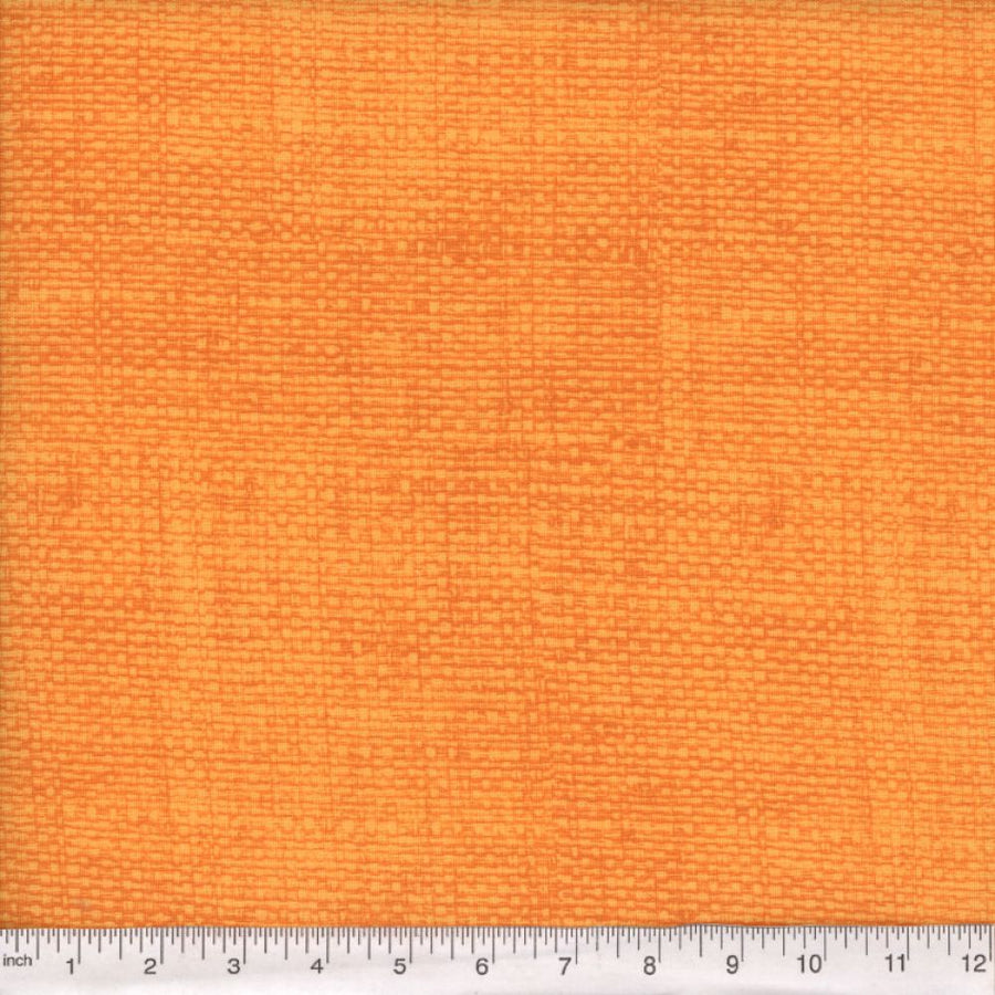 Orange Burlap Look Fabric