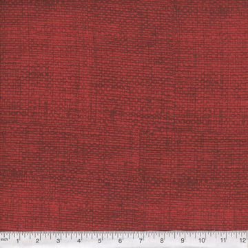 Red Burlap Look Fabric