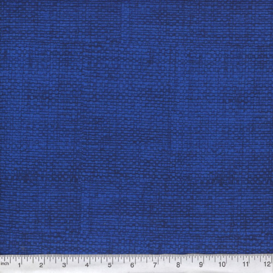 Royal Blue Burlap Look Fabric