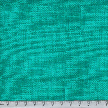 Teal Burlap Look Fabric