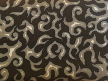 Gray Flames Fabric