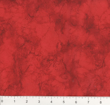 Bright Red Marble Fabric